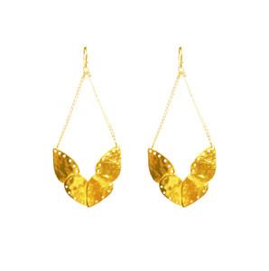 Bohemian style statement earrings, long boho style earrings