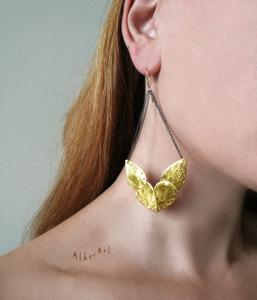 Greek Jewelry Designers, bohemian earrings, boho fashion earrings
