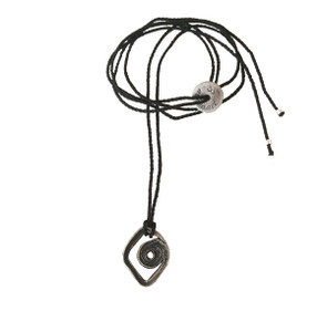 Spiral Eye, evil eye unisex charm necklace