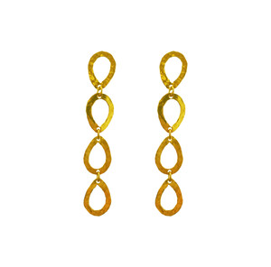 Long Drop earrings available in silver and silver gold plated