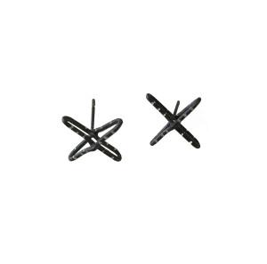 Cross Stud Earrings Contemporary Earrings Modern Cross