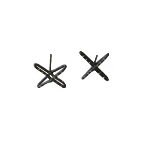 Cross Stud Earrings|Contemporary Earrings|Modern Cross