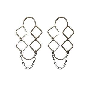 Minimal Geometric Earrings Rhombus|Greece  inspired Jewelry