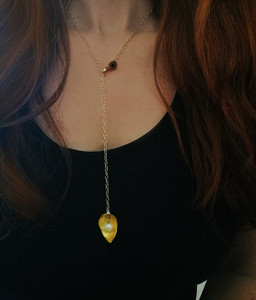 Long Tie Pendant that can be worn as a necklace also|Luxury converible jewelry