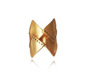 Warrior Ring with zircons|Greek Jewellery|Geometric|Minimal jewelry