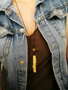 "Minimalist Geometric   pendant ""Doris""necklace|Convertible jewelry|Geometric|Luxury street style necklace"