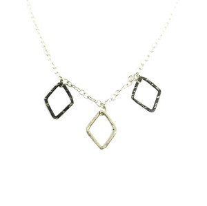 Minimal necklace  with cain made of silver 925