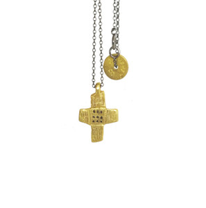 Modern Art Cross with chain or cord ,stylish and chic for everyday