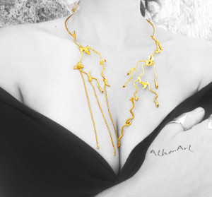 This Necklace is  Inspired by Ancient Greek Coins «Kistoforika» It is Exhibited at Numismatic Museum until the 30th of October and after that at  Museum of Arts and Designs in New York