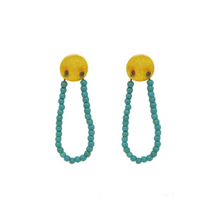 Boho Sun Earrings with Turquoise Howlite, evryday earrings with style