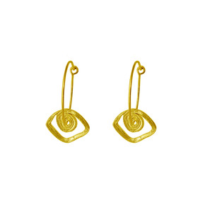 Evil eye Hoop earrings with spiral shape a powerful amulet for evil eye protection
