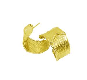 Hoop Earrings The Wave made of Silver 925|Modern Textured hoops