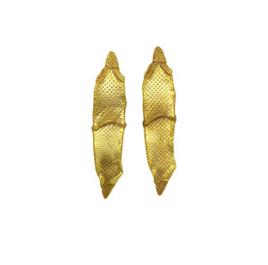 """Modern  Long silver Earrings """"Wave"""" Minimal Earrings with smooth texture"""