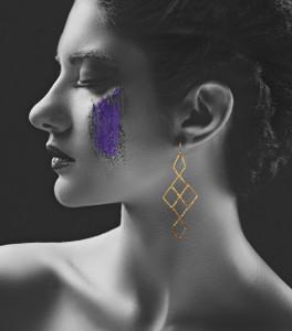 """Long Geometric Earrings """"Anna"""" -Silver 925 -Minimal earrings"""