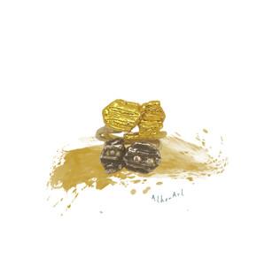 Bee ring by Athena Papa, έλληνες σχεδιαστές κοσμημα