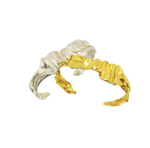 Gold Greek Cuff inspired by the folds and forms of Ancinet Greek Garments