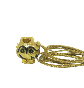 The owl, one of a kind mini  Greek kanata pendant made of heavy silver , handpainted, collectible Greek jewelry