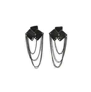 Bouquet Block Earrings with Rocker Mood|Chain Earrings