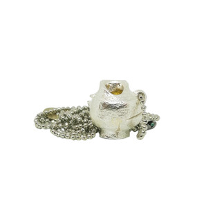 Mini Kanata Silver plated, wearable art jewelry  , Greek Jewellery