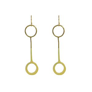 Yellow fashion earrings , designer jewelry