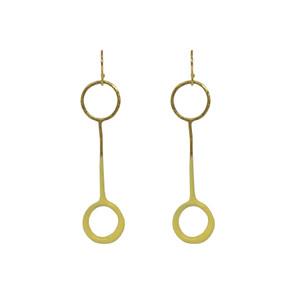 Yellow fashion earrings , designer jewelry