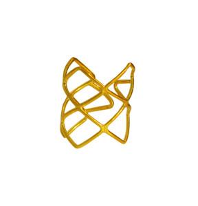 Geometrici ring in 14k gold , modern fine jewelry