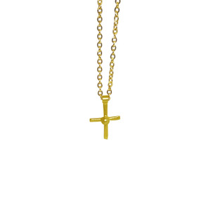Tiny Cross charm necklacefor everyday, elegant and chic