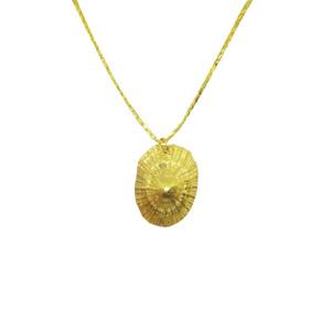 Handmade sea shell charm necklace, μενταγιόν κοχύλι
