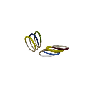 """""""Mona"""" Light silver rings in many colors make your combination"""
