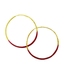Enamel big Hoop Earrings, comfortable everyday Hoop earrings in may colors