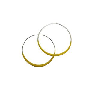 Yellow Hoop earrings, Fashion designer jewelry