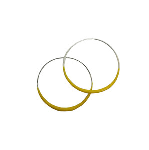Yellow Hoop earrings, Fashion designer jewelry