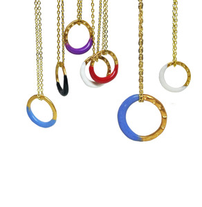 ''Zoe''  Charm necklace in many colors, colorful fashion jewelry