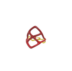 Minimal geometric ring with enamel in many colors