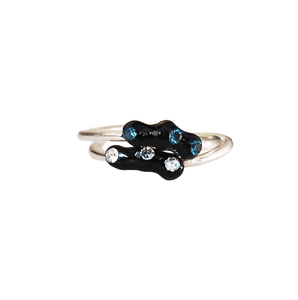 """Thea"" Thin, elegant enamel stacking rings with Zircons."