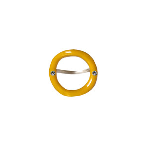 yellow designer ring, handmade