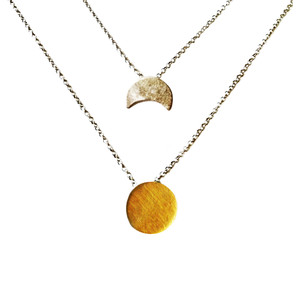 Layered SunMoon Necklace