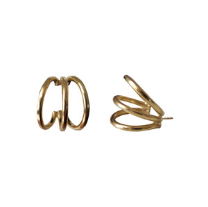 "Hoop Earrings ""Tria"" a minimal and bold design for everyday"