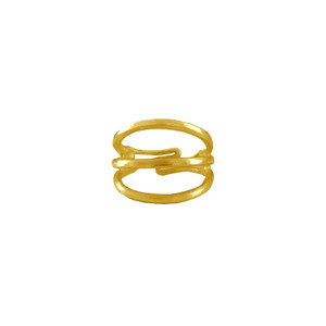 """Minimal silver ring """"Tria"""", beautiful and comfortable"""