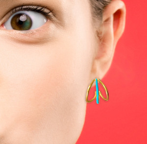 Greek jewelry designers, enamel earrings, fashion jewelry, wholesale jewelry
