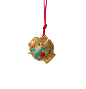 Wearable art pendant inspired by ancient greek pottery