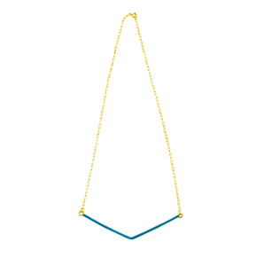 Mona Angle, silver necklace with enamel in amny colors, choose yours