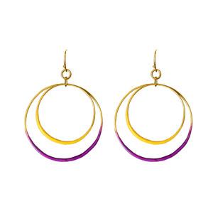Lola Two tone Hoop earrings the short edition, colorful boho, elegant hoop earrings