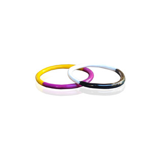 Two Tone enamel thin ring in many combinations choose your Mona ring