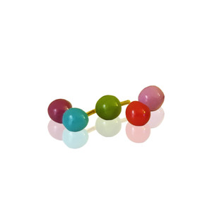 9 or 14k Gold Lia stud earrings with enamel in many colors , a fresh view of gold jewelry