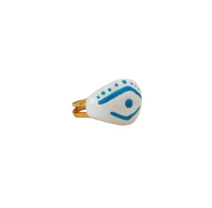 Greek Evil Eye ring, Mati ring is handmade and handpainted  to  protect you from evil eyes