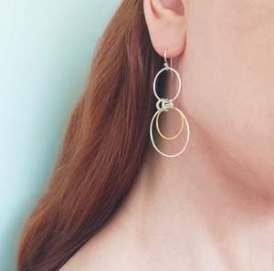 Lena Hoop earrings by Athena Papa athenart, greek jewelry designers