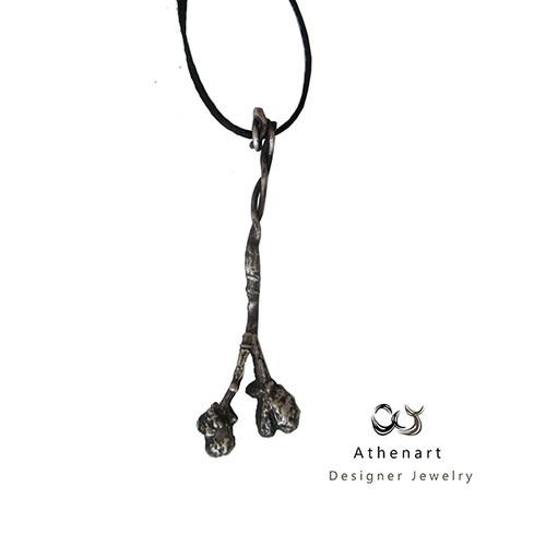 Botanical silver pendant|Organic Flower pendant|Designer jewelry|Exclusive