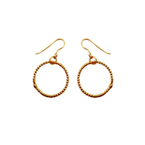 Circle earrings Hoop earrings Modern earrings Dangle Earrings