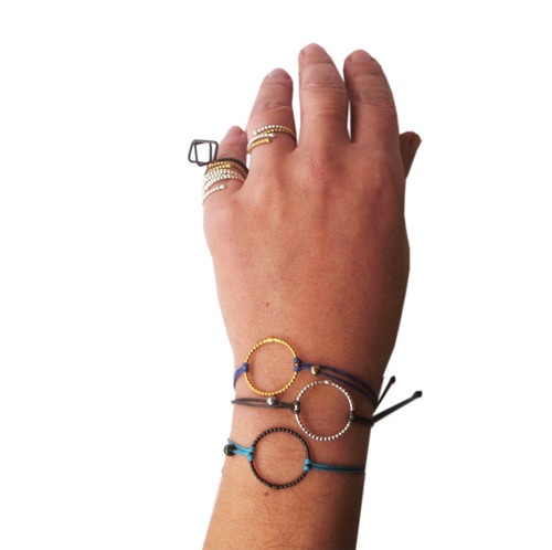 Silver circle bracelet|Geometric bracelet|Minimal bracelet